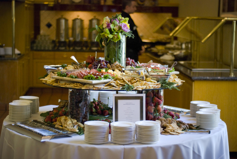 Conference venues and delicious menu items from UCLA Conferences and Catering